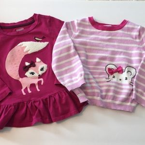 18-24 month GYMBOREE shirt and sweater EUC